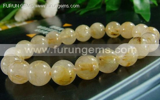 Rutilated quartz bracelet