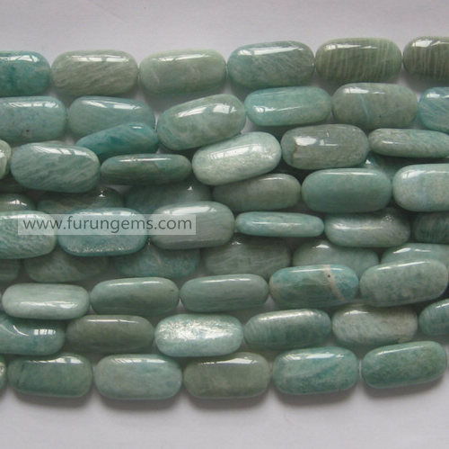 russian amazonite  rectangle/oblong beads green