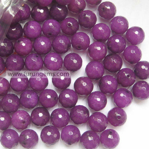 purple jade faceted 14mm