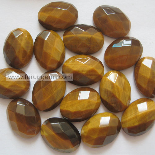 tiger eye oval cab 20x15mm faceted