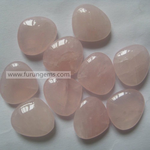rose quartz pear briolette18x16mm